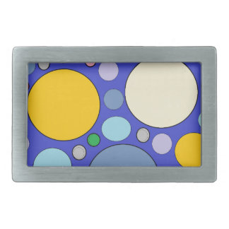 circles and polka dots rectangular belt buckle
