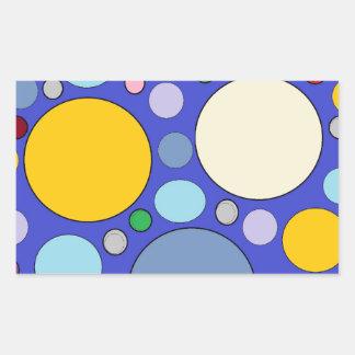 circles and polka dots rectangular sticker