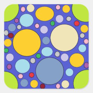 circles and polka dots square sticker