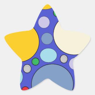 circles and polka dots star sticker