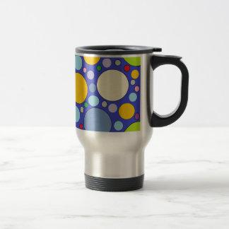 circles and polka dots travel mug