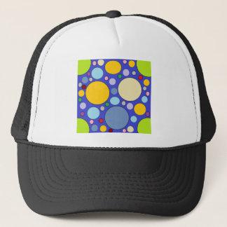 circles and polka dots trucker hat
