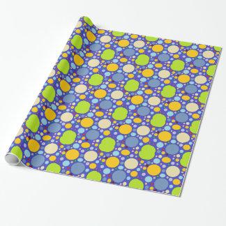 circles and polka dots wrapping paper