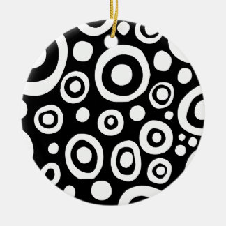 Circles and Spots 01 Round Ceramic Decoration