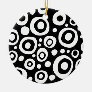 Circles and Spots 08 Round Ceramic Decoration