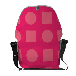 Circles and square magenta courier bags