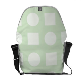 Circles and square mint messenger bag