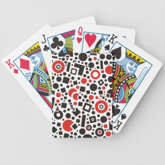 Circles and square shapes abstract patterns bicycle playing cards
