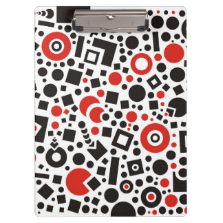Circles and square shapes abstract patterns clipboard