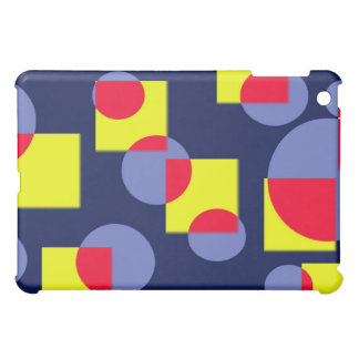 Circles and squares iPad mini cover