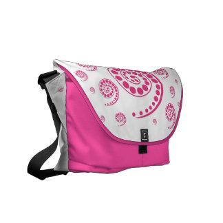 Circles and Twirls Messenger Bag