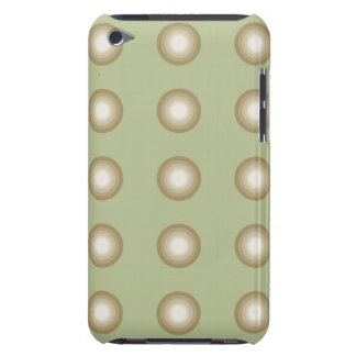 Circles army green Case-Mate iPod touch case