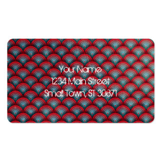 Circles Background  Spiral Surface Red and Blue Pack Of Standard Business Cards