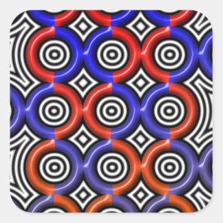 Circles, circles everywhere square sticker