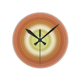 Circles - citrus colors round clock