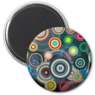 Circles Design 6 Cm Round Magnet