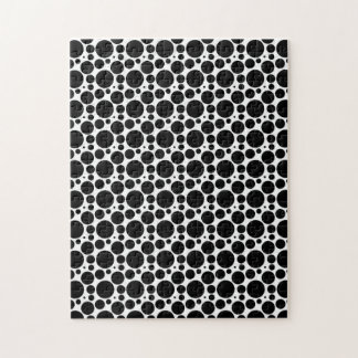 Circles & Dots in 7 Sizes: Repeating Black & White Puzzles