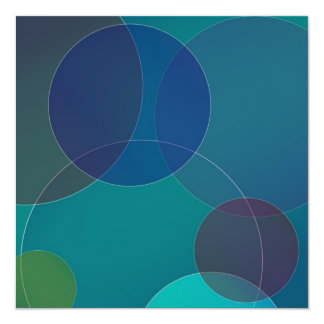 "Circles I 5.25"" Square Invitation Card"