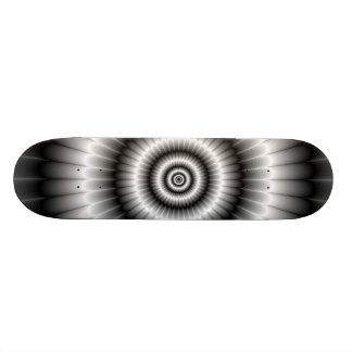 Circles in Black and White Skateboard