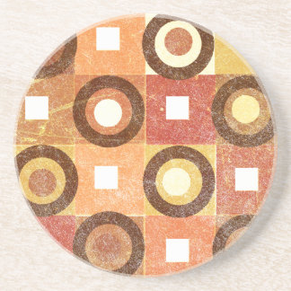 Circles in Squares Browns Coaster