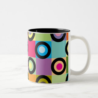 Circles In Squares Coffee Mug