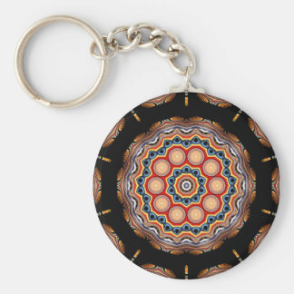 Circles Kaleidoscope Keychain