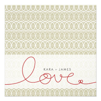 Circles + Love Stone Custom Engagement Invitation Personalized Invites