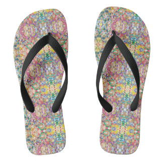 Circles Multicolored Women's Summer Flip Flops
