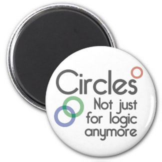 Circles. Not just for logic anymore. 6 Cm Round Magnet