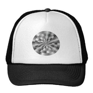 Circles of black white circles black white hats