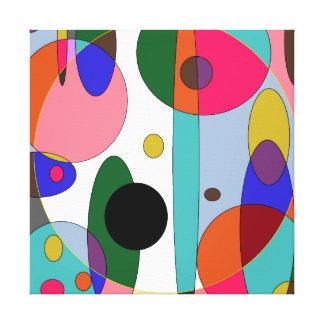 Circles of color canvas print