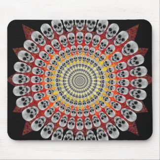 Circles of Skulls & Fire Graphics: Custom Mousepad