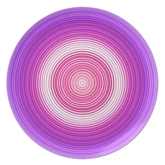 Circles - Purple Blue Plate