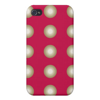 Circles red covers for iPhone 4