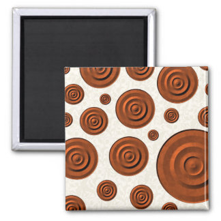 Circles Square Magnet