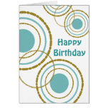 Circles Trio Birthday Card