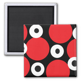 Circles Two Square Magnet