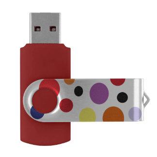 circles USB 3.0 Flash Drive 16 GB Pink Swivel