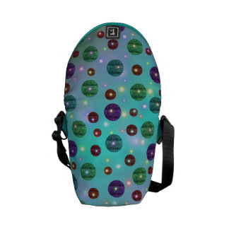 Circles with brightness messenger bags