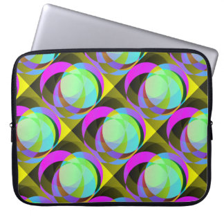 Circles within circles laptop sleeve