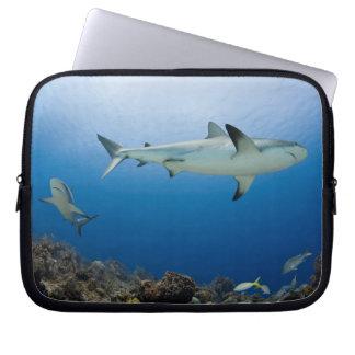 """Circling Sharks Neoprene Laptop Sleeve (10"""")"""