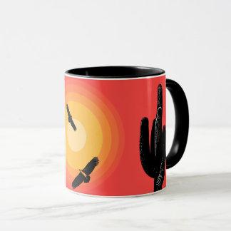 Circling Vultures Desert Sun Mug
