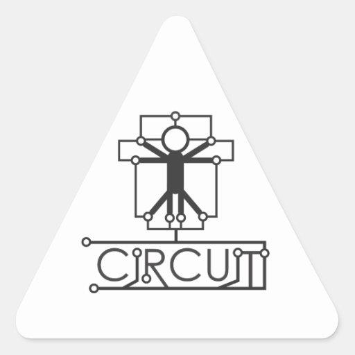 Circuit Apparel LA Triangle Stickers