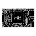 Circuit B & W 2 'monogram business card grey