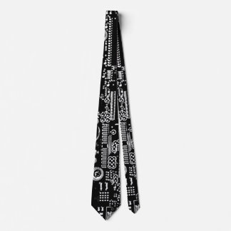 Circuit Black and White 2 tie double sided