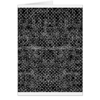 Circuit Black And White Card
