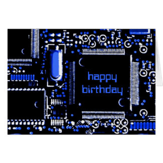 Circuit Blue 2 'Happy Birthday' greetings card