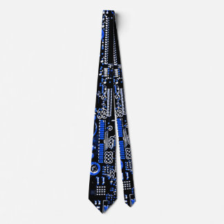Circuit Blue 2 tie double sided