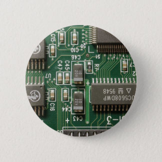 Circuit Board Design 6 Cm Round Badge