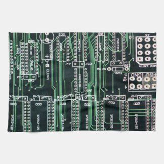 Circuit board design hand towel